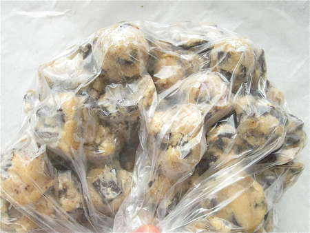 cookie dough in bags