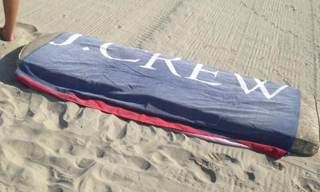 J. crew beach towel