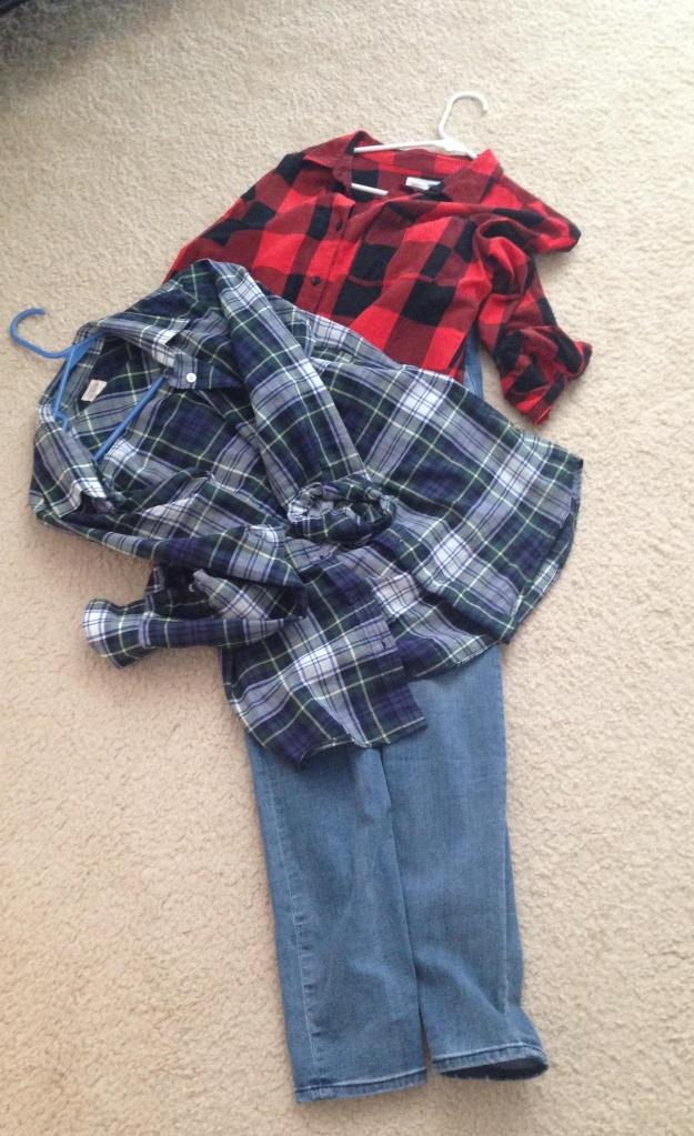 Jeans and flannel another classic hippie attire