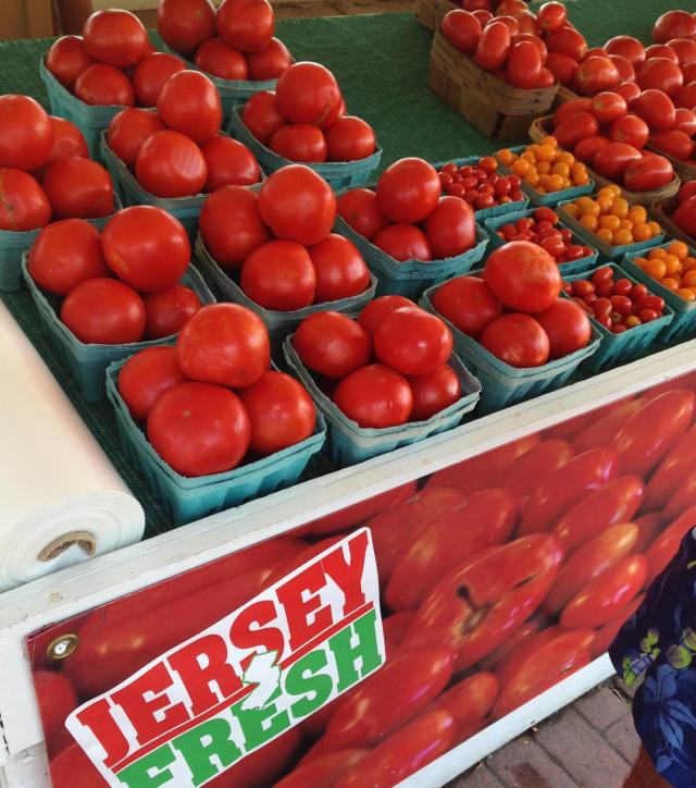 Jersey Produce noting like a good tomato