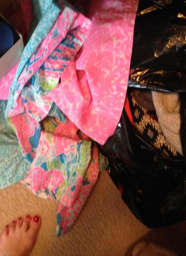 Lilly tunics ready for that bag 'o trash