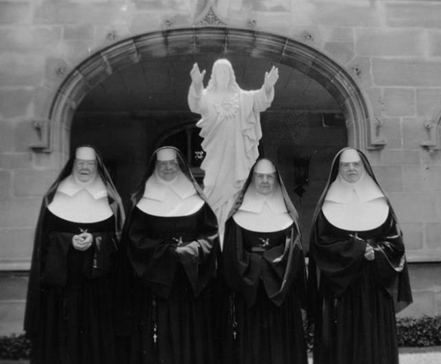 Meeters and greeters. Nuns