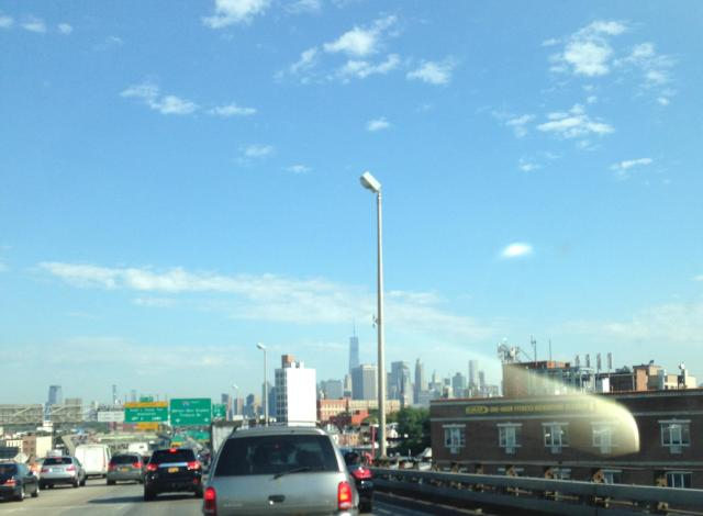 Saturday morning. On the BQE