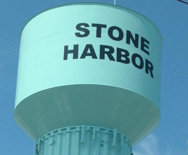 Stone Harbor close up of water tower