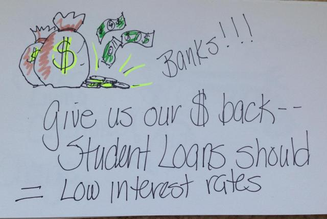 student loan poster