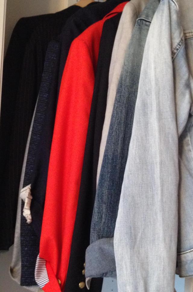 Study in blazers and two denim jackets