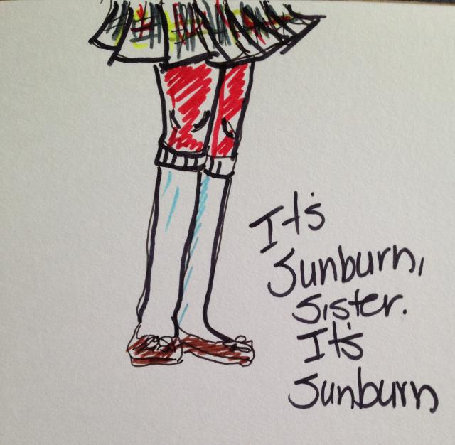 sunburn legs