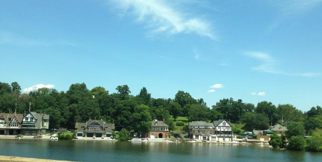 Sunday. Boathouses fromt he other side