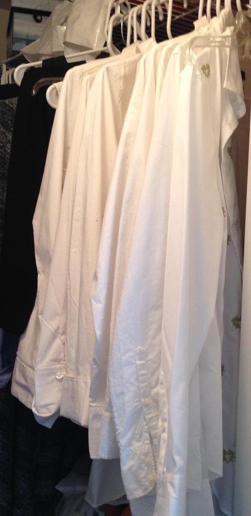 White shirts. Enough