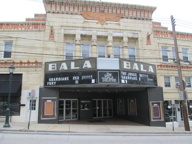 The Bala Theater, formerly the Egyptian, was built in 1926.