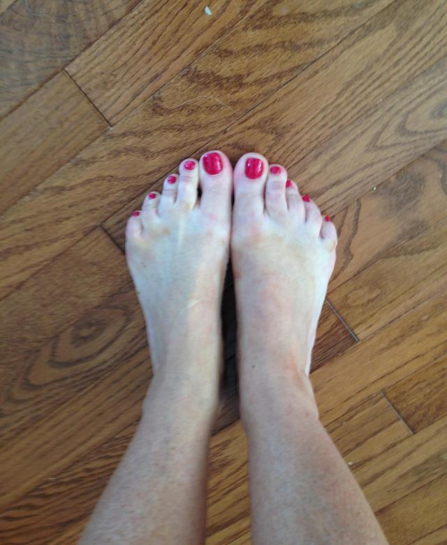 Barefeet on wood