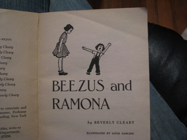 beezus and ramona title page