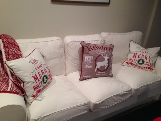 christmas sofa