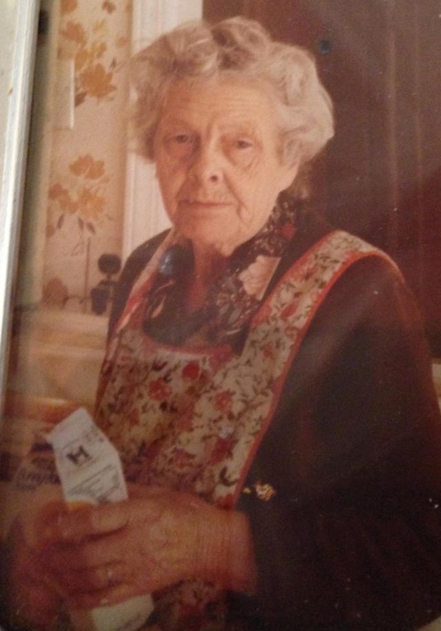 Grandma with milk