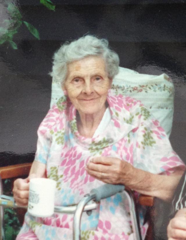 Grandma with tea