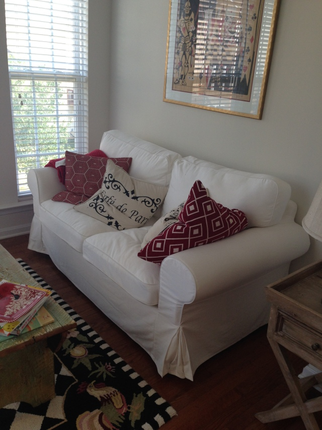 Loveseat in sunroom