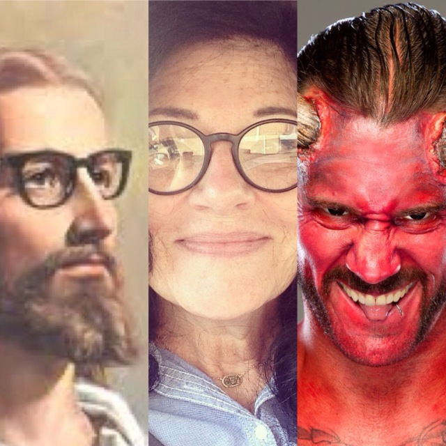 Me Hipster Jesus and The Devil good vs. evil