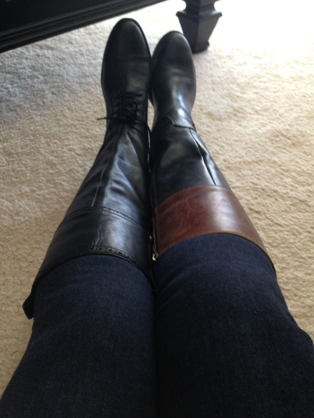 Sam edelman Angolini boots with smoothed out jeans. wearing belt