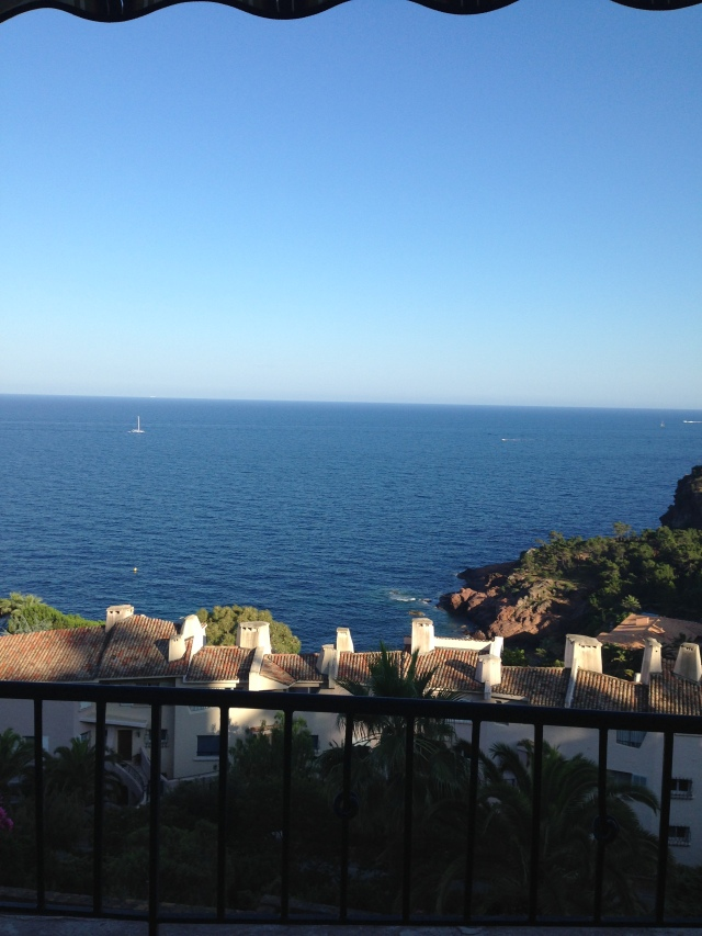 Theoule. Morning view from the terrace