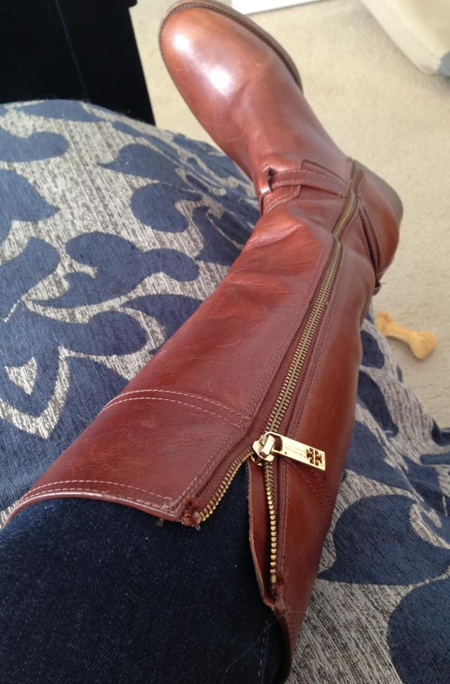 Tory Burch Boots. The struggle beings.
