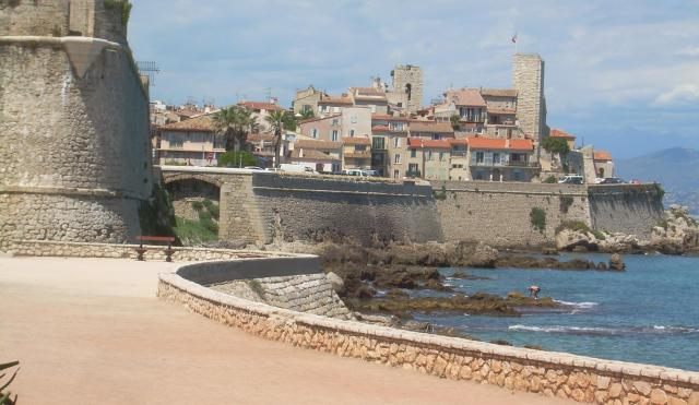 Antibes. Begining of the ramparts walk