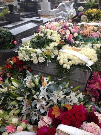 Montparnasse Cemetary. Flowers on Daniele's grave