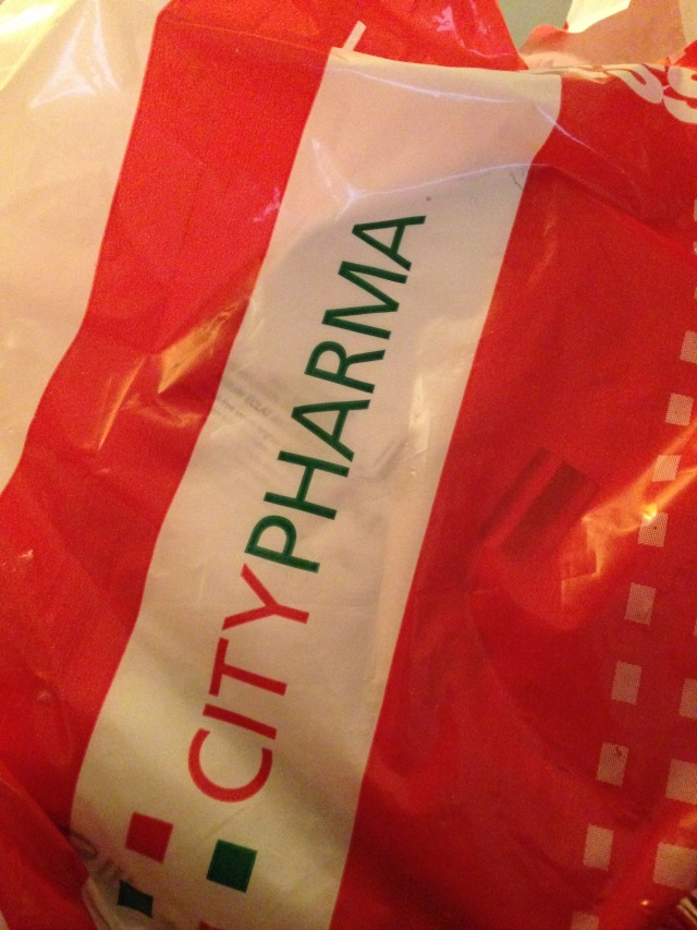 Paris. Citypharma bag of delights. Ahhhh.