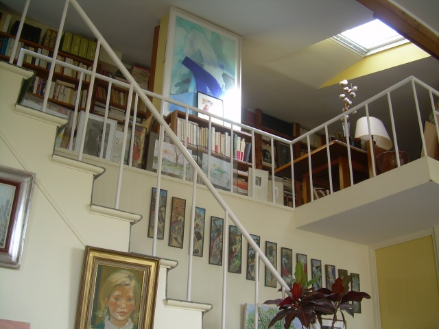 Paris. Daniele's apartment view of the loft.