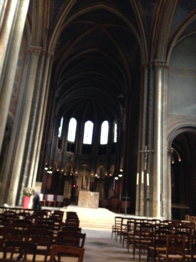 Paris Iglise St. Germain de Pres. Day after the funeral. Peaceful