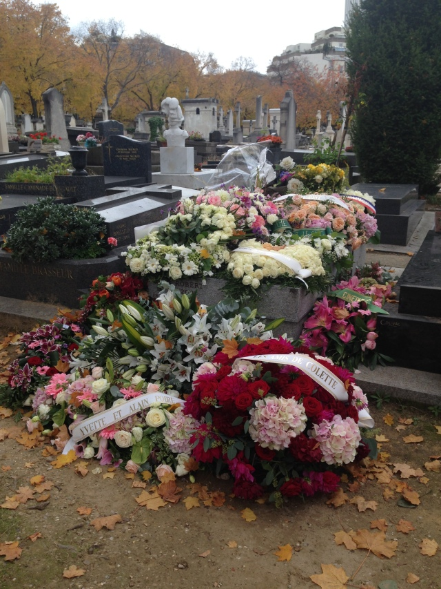Paris. Montparnasse cemetary. Farther view of Daniele's grave.