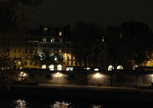 Paris. Night. View of 55 from the other side of the seine.