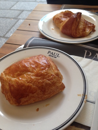 Paris. Paul. Pain au chocolat for breakfast.