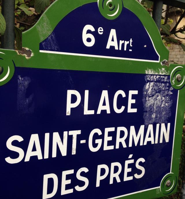 Paris. Place Saint-Germain des Pres sign