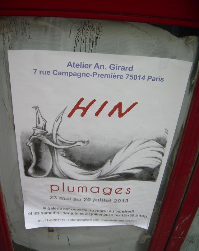 Paris. Signs. Sign on street for exhibit at Vincent's family's gallery.