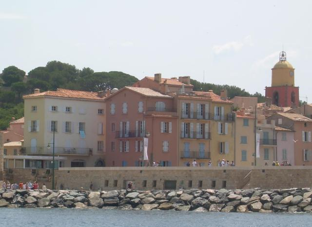 St. Trop. Nice view of homes from the boat.