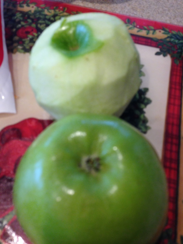 The crunch of an apple