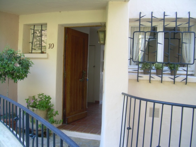 Theoule. Front Door of our apartment