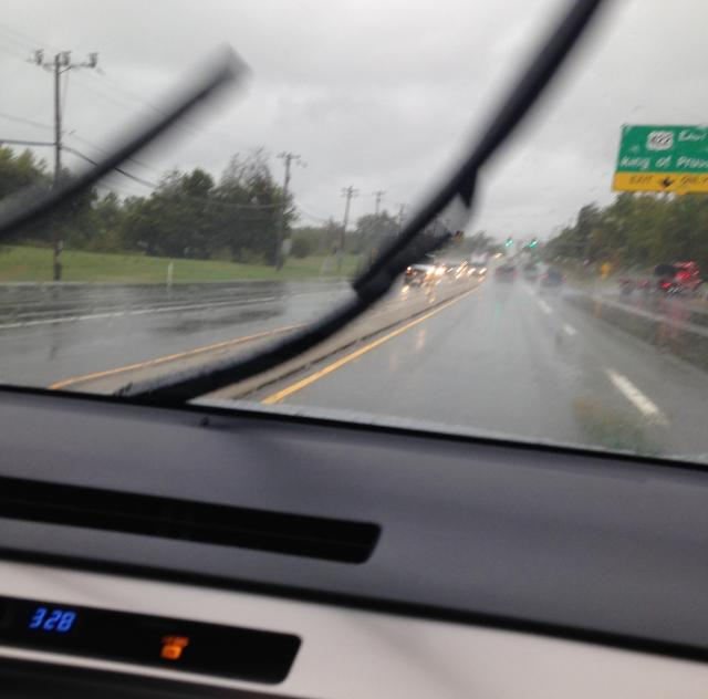 Wipers against the rain