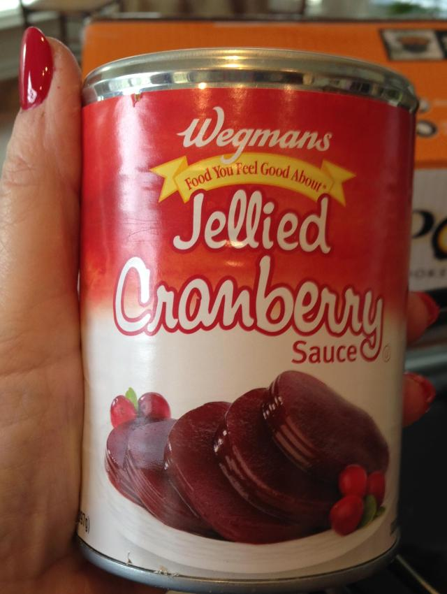Cranberry sauce in can