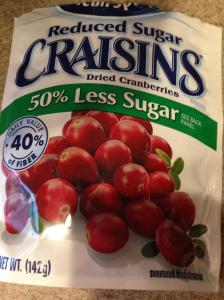 Craisins. The only healthy thing I've eaten in three days.