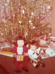 Me and Sissy under the tree