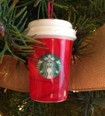 Ornament. Blessed Mother of Starbucks. Gave birth to a latte.