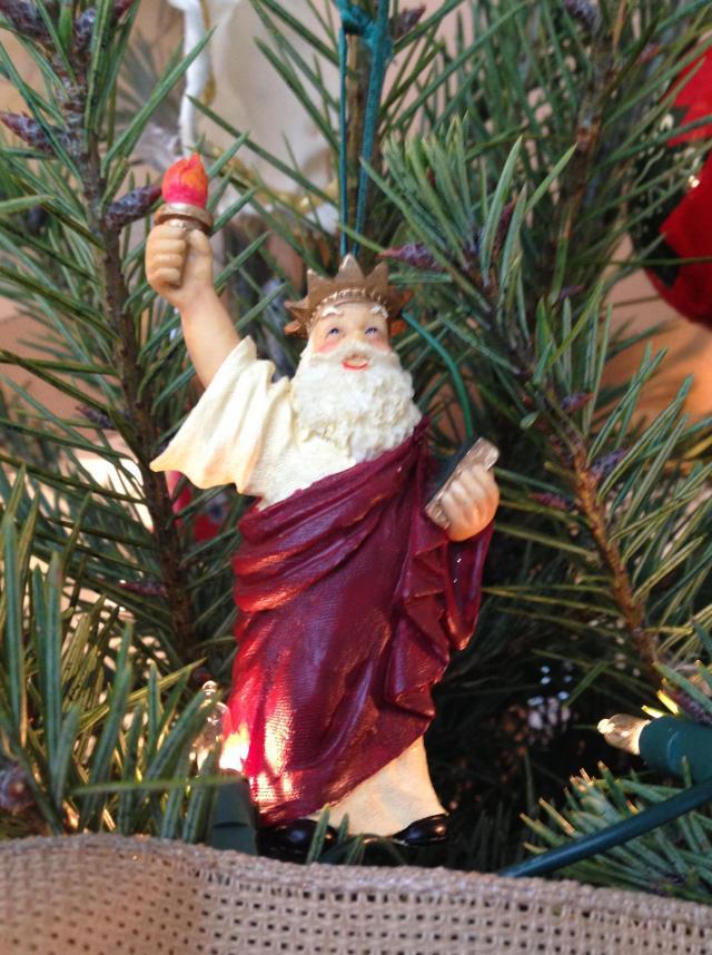 Ornament. Santa Statue of Liberty