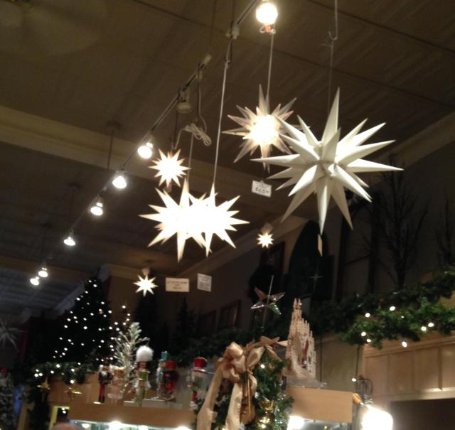 star ornaments from ceiling