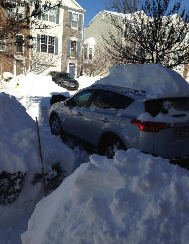 My car. Almost dug out