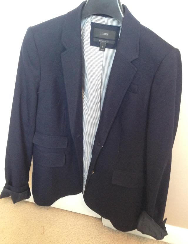 Navy Schoolboy Blazer will be packed gingerly