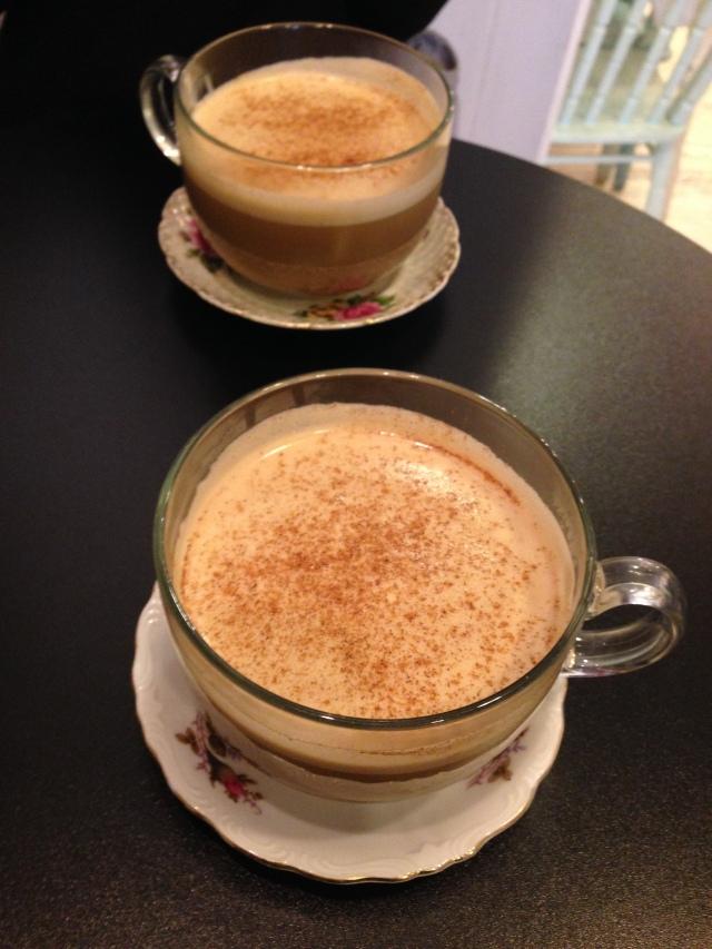 chai lattes at Savoy