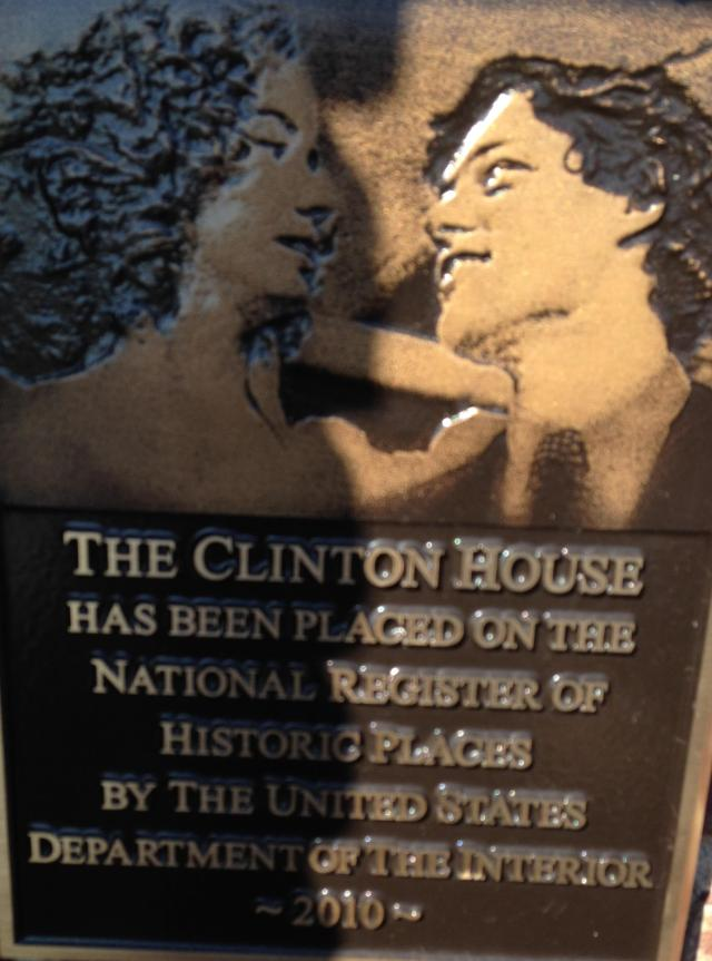 Clinton House Plaque