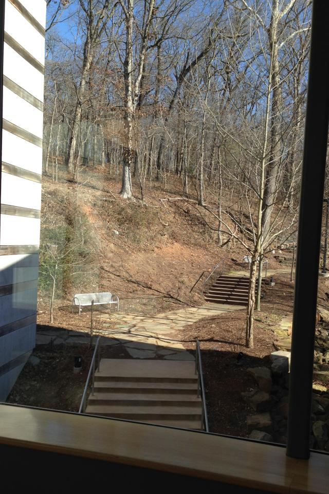 Crystal Bridges Museum view of trail