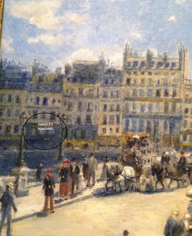 Detail from Monet's Pont Neuf painting